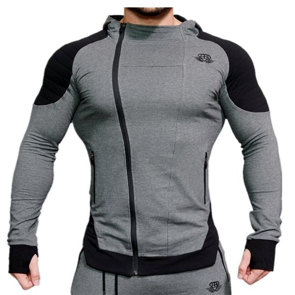 BE Mens Marca Designer Casual Cardigan Moletons Irmão Muscular Macho Ginásio de Fitness Fino Casaco Com Capuz de Atletismo Musculação Tops