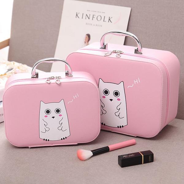 bolsa de cosméticos de color rosa