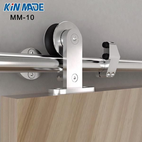Kinmade MM-10 Stainless Steel WoodenSlidingDoor-Hardware Modern Interior Sliding Barn Wooden Door Hardware Track Set