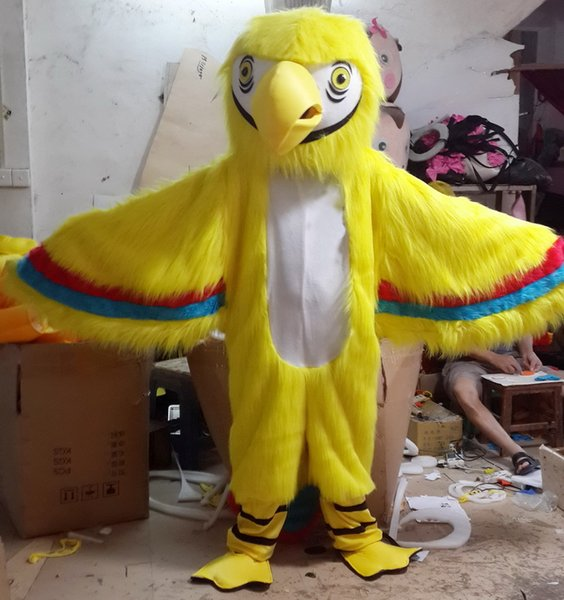 Factory Outlet EVA Material Helmet Yellow parrot Mascot Costumes Cartoon Apparel Birthday party Masquerade WS899