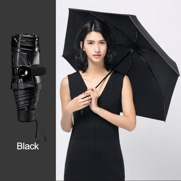 Mini Umbrella Women Parasol Sunny Rain Pocket Umbrella Sun Small Folding Portable Fashion Parasol For Girls PY