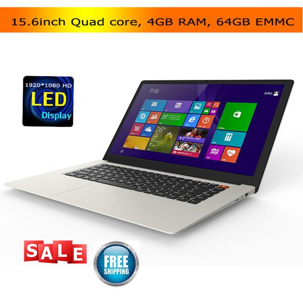 15.6inch cheap laptops 4GB 64GB EMMC Atom X5 Z8350 quad core CPU bluetooth HDMI Windows 10 netbook laptop