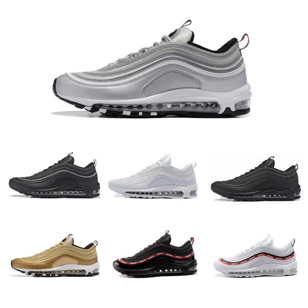 Acheter Nike Air Max 97 Airmax 97 Nouveaux Hommes Chaussures Décontractées AlR Coussin KPU En Plastique Pas Cher Formation Chaussures De Mode En Gros