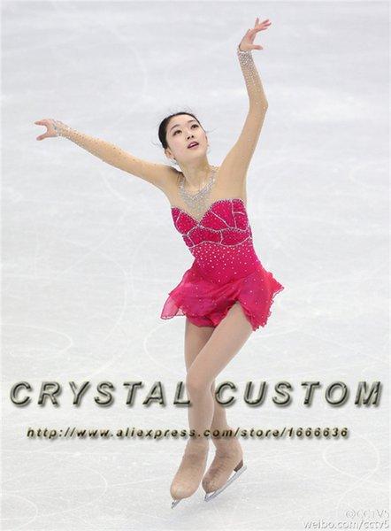 Abiti personalizzati pattinaggio di figura per le ragazze Fashion New Brand concorso vestito da pattinaggio su ghiaccio DR3348