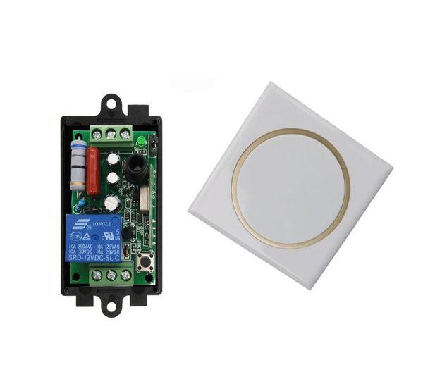 AC 220 V 10 A 1 Kanal RF Radio Kabelloses Fernlicht Kontrollempfänger Sender Wandschalter