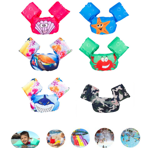 top popular Puddle Jumper Swimming Pool Cartoon Life Jacket Safety Float Vest for Kids Baby BB55 2019