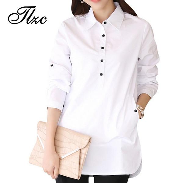 Elegant Blouse White Shirt Women Size S-3XL Ladies Office Shirts Formal & Casual Cotton Blouse Fashion Blusas Femininas S915