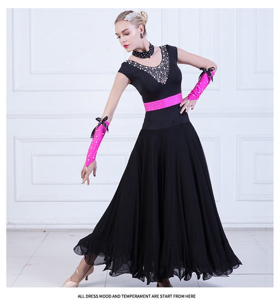 Ballroom Dance Dresses Women Sexy Diamond Waltz Dancing Costume Female Tango dancing Competition Suit D-0122