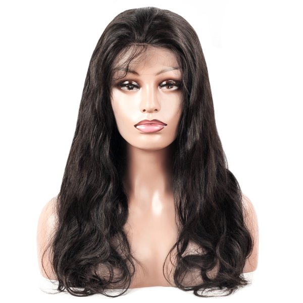 Ishow Cabelo 8A Brasileiro Mink Onda Do Corpo perucas de cabelo humano do laço completo perucas Dianteira Do Laço Perucas Não-Remy Lace Frontal Perucas Frete Grátis