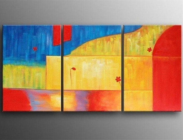 2019 Hand Painted Abstract Colors Oil Paintings On Canvas Handmade Modern Simple Artwork Wall Painting Home Decor Art Pictures From Paintingart2017