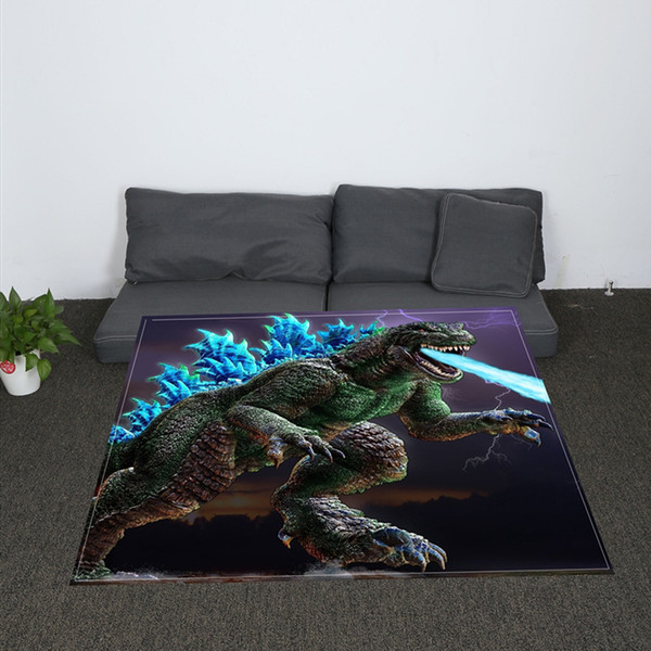 Nordic Soft Jurassic Dinosaurs Printing throw blanket Coral Plaid For sofa air Throw Travel Manta Soft Blanket