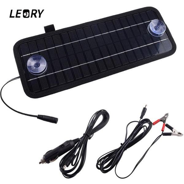 LEORY Hot 12V 4.5W Panel Solar Módulo Cargador Solar Monocristalino Portátil Para Coche Automóvil Barco Batería de Poder Recargable