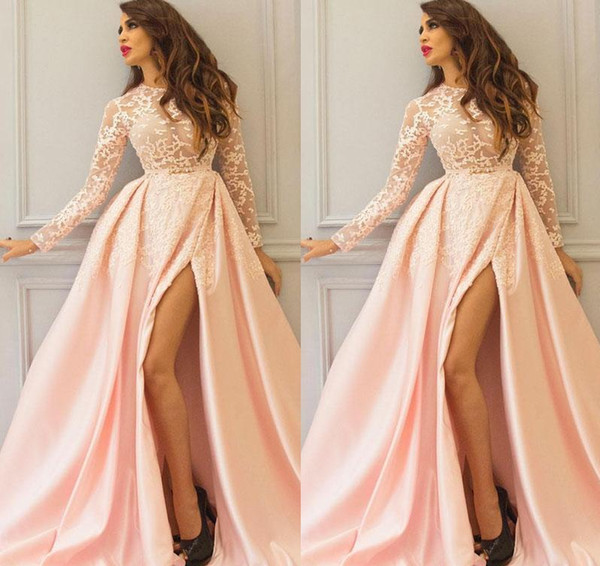 Formal Evening Dresses Wear Long Party Prom Gowns Yousef aljasmi Labourjoisie Illusion Bodies Pageant Celebrity Dresses Arabic High Split