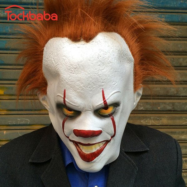 2020 Tockbaba 2018 Hot Clown It Mask Halloween Horror Scary Clown