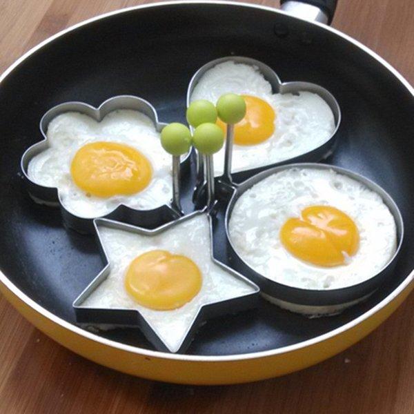 4шт/комплект высокое качество из нержавеющей стали жареное яйцо плесень кухня инструмент блин кольца кулинария яйцо инструменты для укладки гаджет.