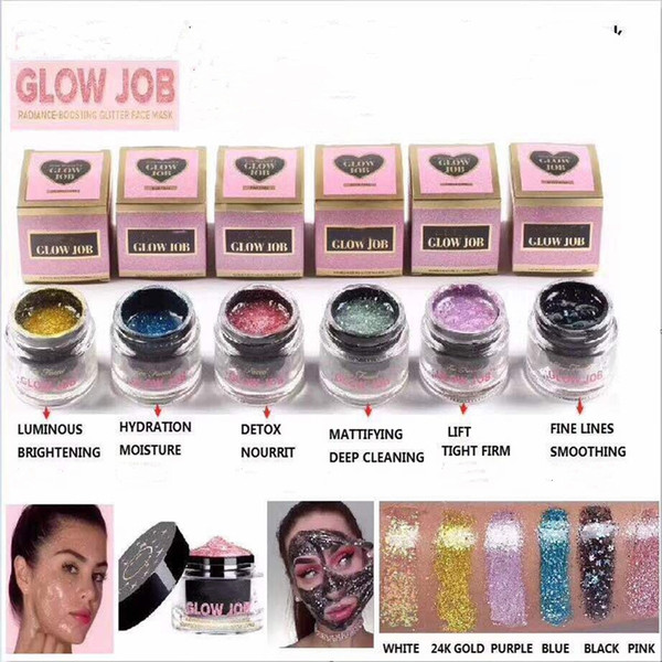 DHL free faced 6 colors Radiance Boosting give yourself a glow job mask Glitter face mask soft facial mask