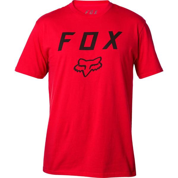 Tee-shirt de moth Legacy de Fox des hommes T-shirt rouge foncé de T-shirt d'habillement de vêtements des hommes 2018 marque T-shirt O-cou