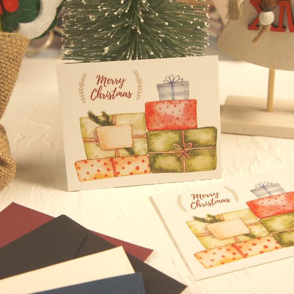 Compre Multiuso 50 Unids Mini Feliz Navidad Enviar Regalo Tarjeta De Diseño Scrapbooking Tarjetas De Invitación Del Partido Tarjeta De Felicitación De