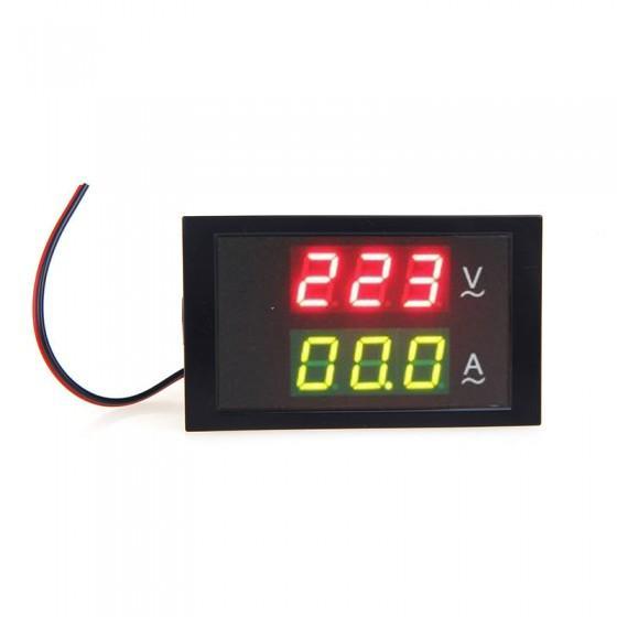 Digital LED Voltímetro Medidor de Tensão Amperímetro com Transformador de Corrente AC80-300V 0-100.0A Dual Display Eletrônico de Diagnóstico-ferramenta