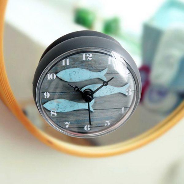 Großhandel Badezimmer Küche Wasserdicht Dusche Wand Mini Watermel Uhr Uhr  Saugnapf Batteriebetriebene Wohnzimmer Moderne Mode Design Von Hogane, ...