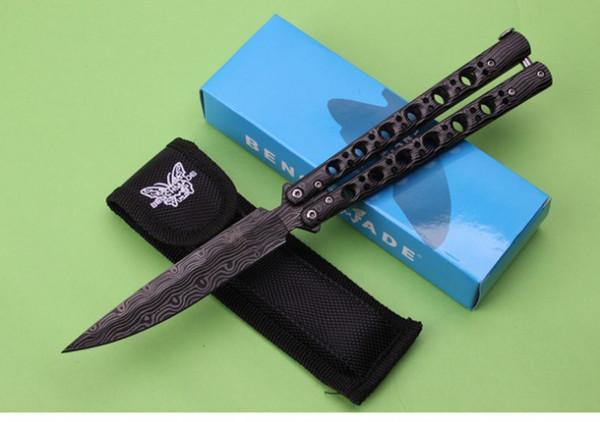 Envío gratis Butterfly - C62 Stripe Butterfly Knife 3Cr13Mov hoja de acero mango herramienta multiusos al aire libre