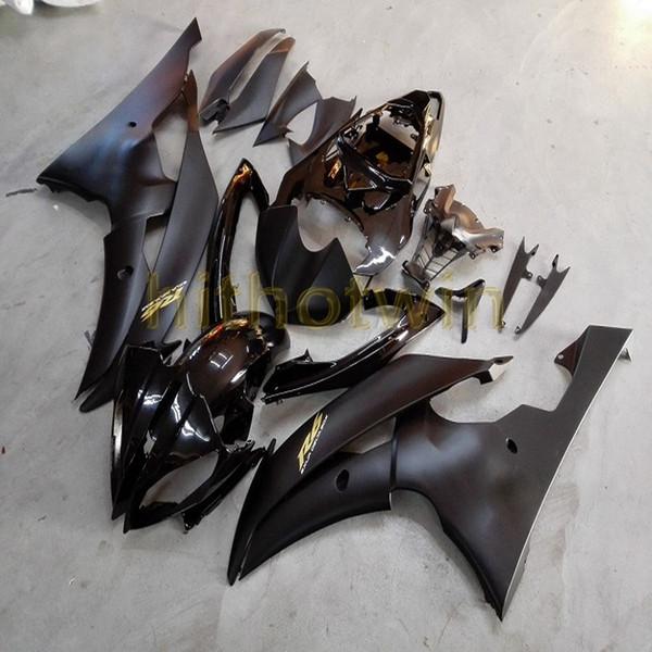 Schrauben + Kundenspezifisches Mattschwarzes glattes ABS-Motorrad für Verkleidung Yamahas YZF-R6 YZF R6 2008 2009 2010 2011 2012 2013 2014 2015 2016