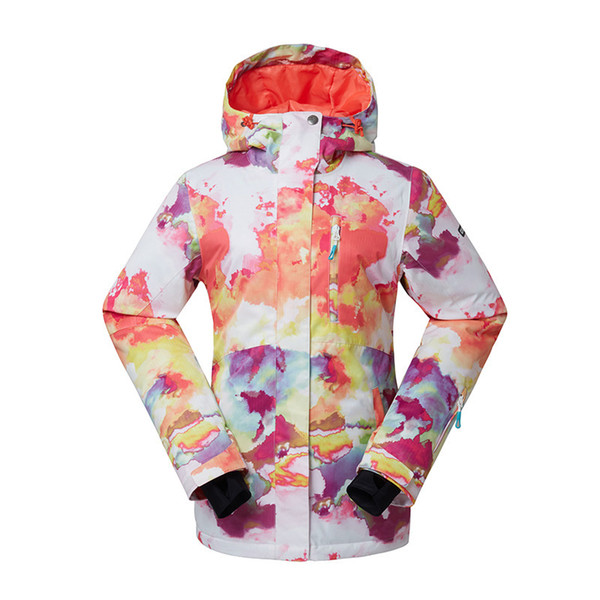 GSOU SNOW Outdoor Women's Ski Suit Windproof Waterproof Wear-resisting Warm Breathable Ski Jacket Cotton Clothes Size XS-XL