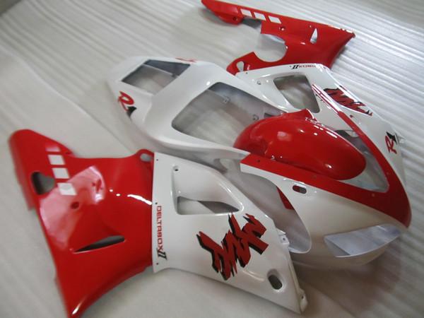 Free custom Fairing kit forYAMAHA YZF R1 1998 1999 red white fairings set YZF R1 98 99 AT67