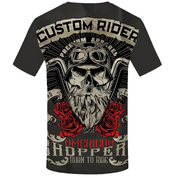 Enfants T-Shirt Motard Harley Chopper Old School Différentes Tailles Neuf