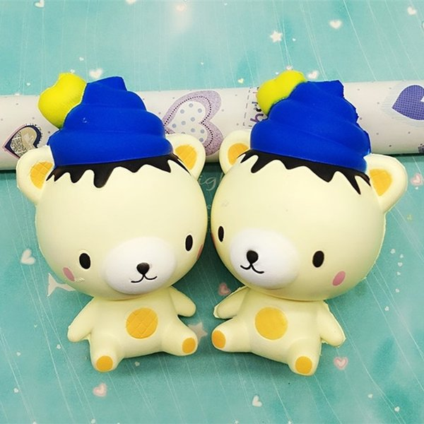13CM Reduce Pressure Toy Simulation Ice Cream Bear Doll Squishy Scented Squeeze Soft Jumbo Squishies Cartoon 9 5hb B