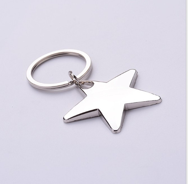 top popular Novelty Star Shaped House Shaped Keychains Metal Keyrings Custom LOGO for Gifts 2019