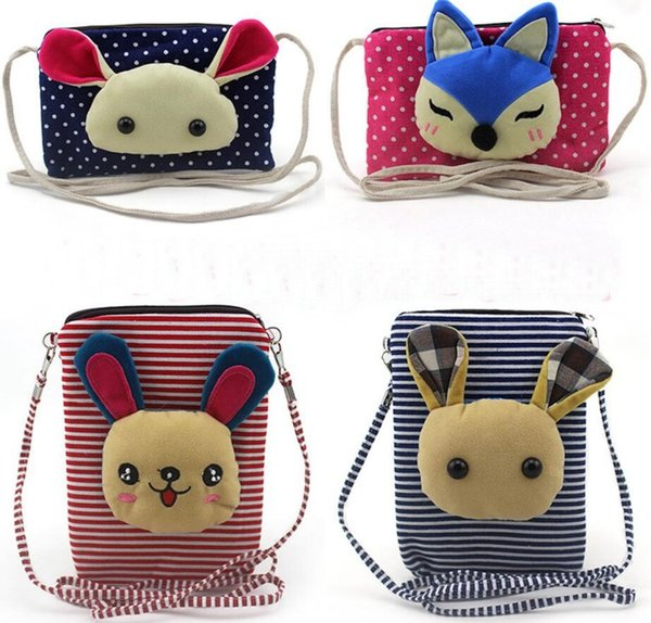 aby Girls Mini Messenger Bag Casual Cartoon Girls Kids Coin Pouch 6 inch large screen mobile phone bag female Messenger bag purse