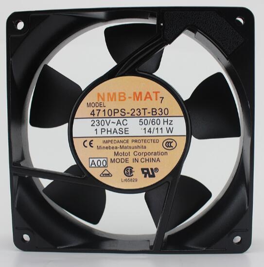 1 PCS Original  NMB-MAT Fan 4710PS-23T-B30 AC 230V 50//60Hz 14//11W 120*120*38mm