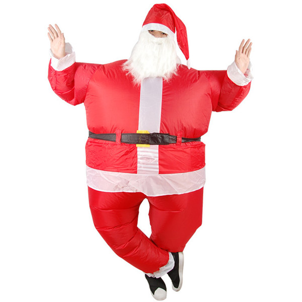 Funny Christmas Picture.Funny Christmas Inflatable Santa Claus Costume Jumpsuit Air Fan Operated Blow Up Xmas Suit Christmas Party Fancy Dress Outfit Party Costume Themes