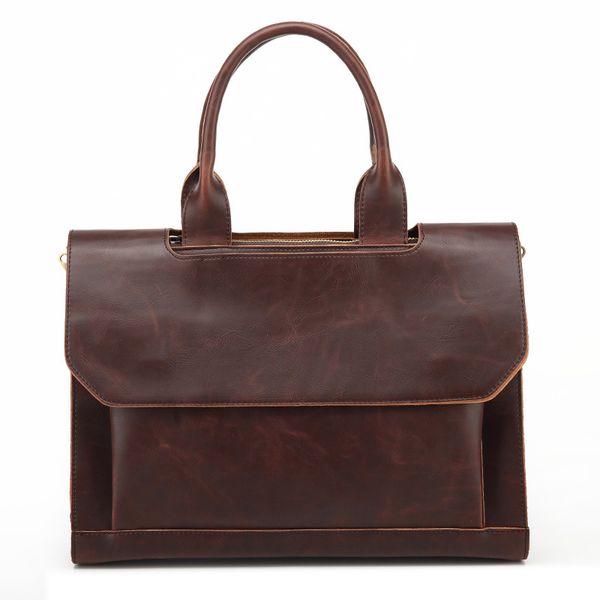 2018 New Fashion Business Men's Handbags Pu Leather Shoulder Male Crossbody Bag Luxury Briefcase Messenger Bags