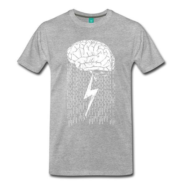 T Shirts Short O-Neck Short Sleeve Funny Brainstorm Tall Regular Tee Shirt For Men
