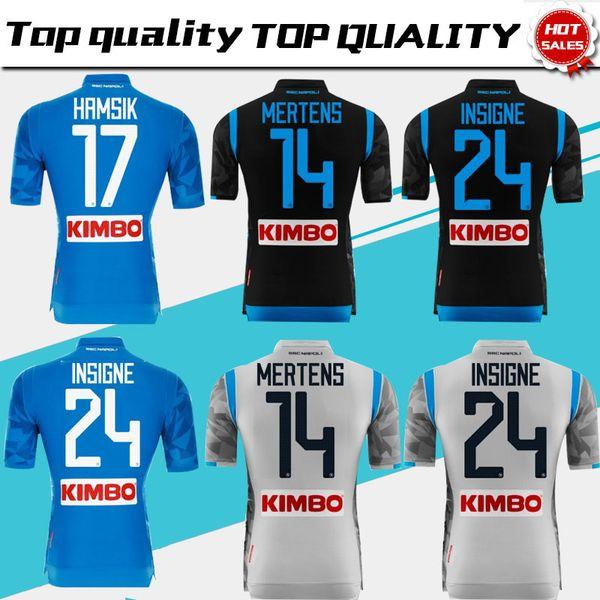 2019 Napoli Home Blue Soccer Jersey 18 19 Naples Away Camiseta de fútbol  2018 Personalizado db3405e2baefe