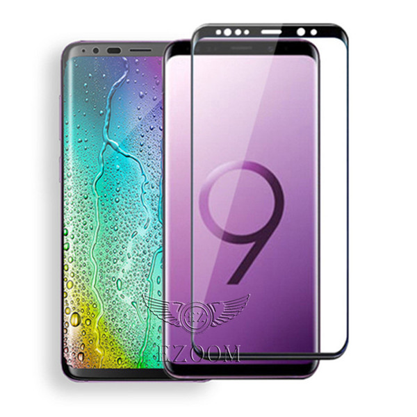Erstklassiger voller Abdeckungs-3D gebogener klarer Kristallglas-Schirm-Schutz-Film für Samsung-Galaxie S9 plus S8 ANMERKUNG 8 9