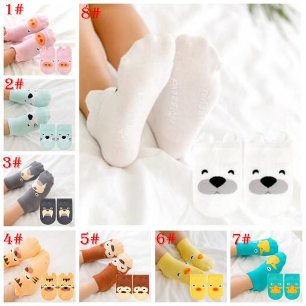 8 style Lovely animal cotton socks winter warm women duck dog pig cartoon socks cute cartoon sock