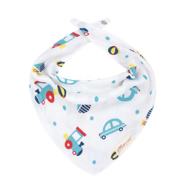 Six layers new designs baby cotton bandana bibs INS hotsale infant burp cloths cartoon cute designs for newborn boys and girls mix order