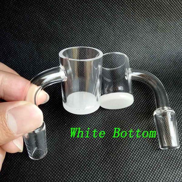 Nuovo 25 millimetri XL quarzo opaco Banger martello chiodo 4 mm di spessore bianco / trasparente fondo piatto 10 millimetri 14 millimetri 18 millimetri domeless al quarzo chiodi tubi di acqua di vetro