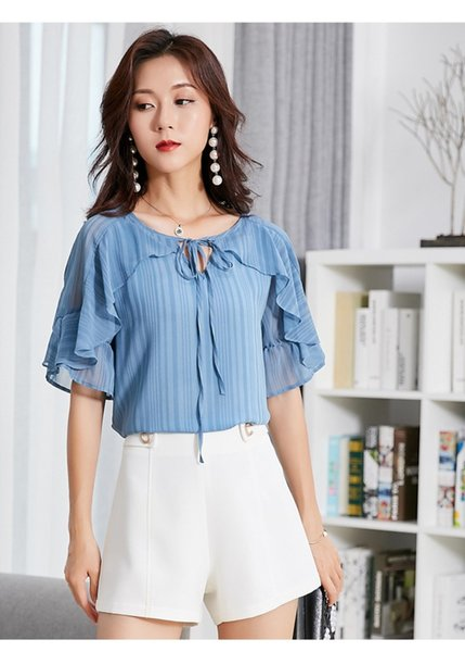 I nuovi bicchierini di stile coreano di estate del bicchierino del bicchierino di colore solido di estate del 2018 si dirigono i pantaloni caldi casuali casuali di temperamento della sezione