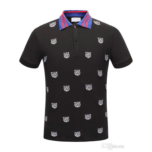2018 New Men POLO shirt Fashion Mens classic lapel T shirt luxury embroidery cotton high-quality brand tee For Men JG3141