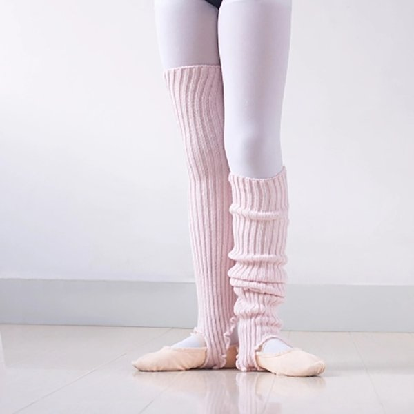 2018 girls soft dance socks kids knitted ballet dance children warmed latin dance thermal lagguard with hole xc-9023 thumbnail