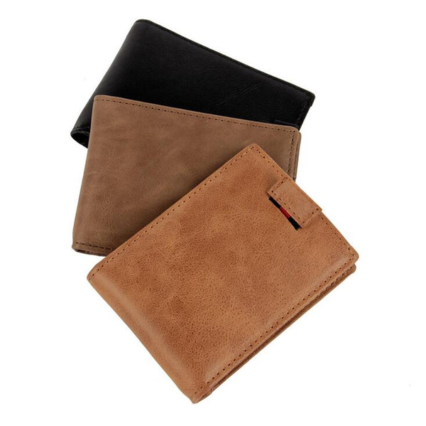 2017 High Quality Anti rifd wallet with photo and licence window genuine leather rfid wallet protection purse carteras