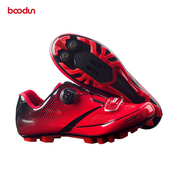 BOODUN Men Bicycle Mountain Bike Shoes Non-Slip Self-Locking Cycling Shoes Mirror Superfiber