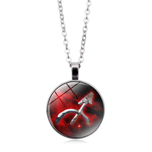 Leo Virgo Cancer Taurus Gemini Scorpio Libra Necklace 12 Zodiac Necklace Twelve Constellations Male women Leather Jewelry