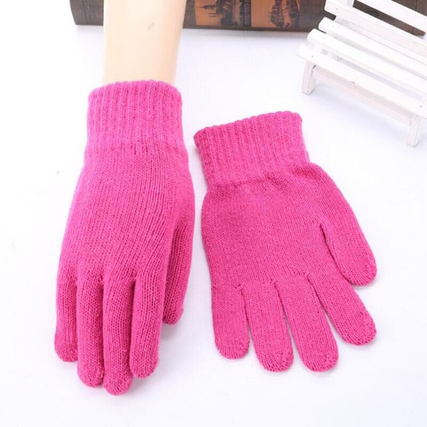 BING YUAN HAO XUAN Hot Sales Autumn & winter New Women Men Knitted Cashmere Wool Blend Warm Gloves Cashmere Solid Color Gloves