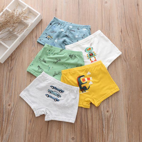 best selling 5Pieces Lot 2017 New Cotton 2-12years Baby Boys Panties Cartoon Kids Underwear Pants Children's Briefs Boys Cute boxer shorts