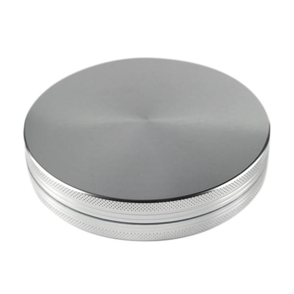 Formax420 100mm Grinder de aluminio 2 piezas Silver Color Herb Grinder